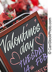 Valentine's Day Sign Outside Florist