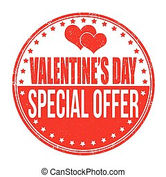 Valentines Day special offer stamp