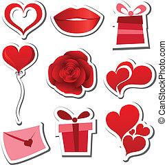 Valentines day sticker set