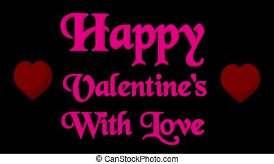 Valentines Day - Hearts and Valentines Day on a black...