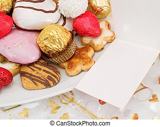 Valentine's Day Sweets (Copy Space)