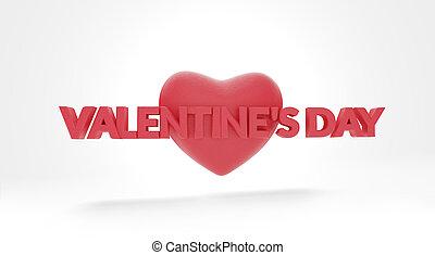 Valentine's Day symbol red 3d-illustration