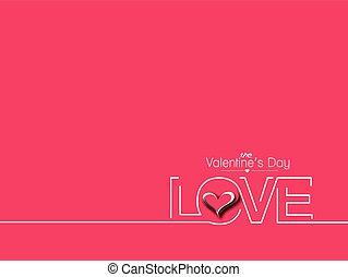 Valentines day text design element