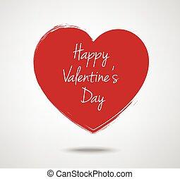 Valentine's Day typography heart label