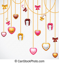 Valentine's Day vector background. Gift card and flyer.