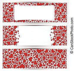 Valentine's day vector banner.