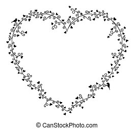 Valentine's day vector frame f