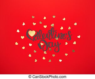 Valentines Day vector greeting card with lettering inscription