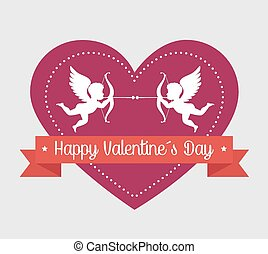 Valentines day, vector illustration.