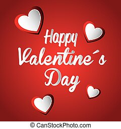Valentines day, vector illustration. - Valentines day over ...