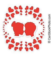 Valentines day, vector illustration.
