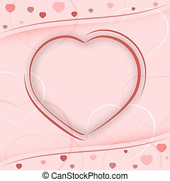 Valentines Day vector illustration with heart.