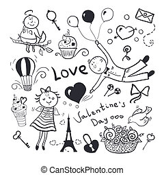 Valentines day vector set