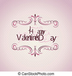 Valentine's day vintage background