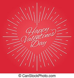 Valentines day vintage card design on red background