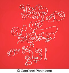 valentines day vintage lettering background