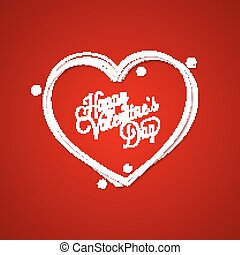 Valentines Day Vintage Lettering Card Background