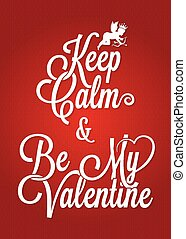 valentines day vintage lettering card background