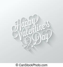 valentines day vintage lettering cut paper background