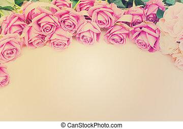 Valentines day violet roses