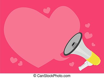Valentines day visual with speech bubble of hearts and ...