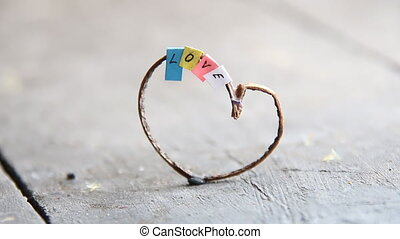 Valentines Day, wedding or love heart idea