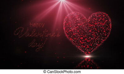 Valentines day wish with heart and light