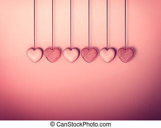 Valentines day with an abstract background