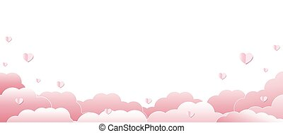 Valentines Day With Pink Hearts White Background