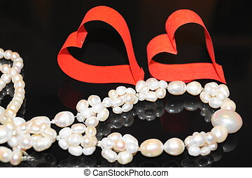 Valentines Day day valentine heart happiness love pearls...