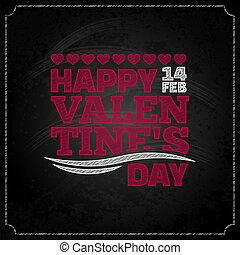 valentines, desenho, dia, fundo, chalkboard