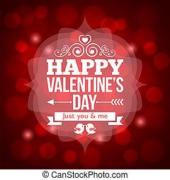 valentines, desenho, dia, fundo, convite