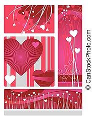 valentines design set