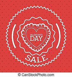 valentines, design, tag, verkauf