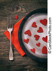 Valentines dinner - Restaurant series. Valentines day dinner...