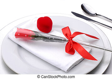 Valentines Dinner - Table Setting For A Romantic Valentines...