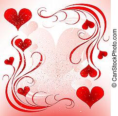 valentines, diseño, día