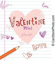 Valentine's doodles.