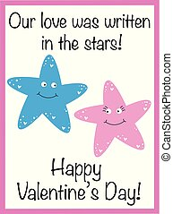 valentines dzień, gwiazdy, szczęśliwy
