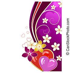 valentine\'s, dzień, karta, powitanie