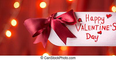valentines dzień, karta, szczęśliwy