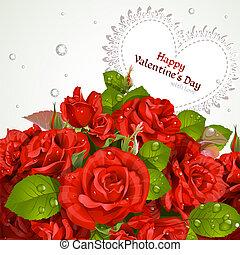 valentine`s dzień, karta, szczęśliwy
