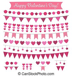 valentines dzień, ozdoba, i, zaprojektujcie elementy, komplet