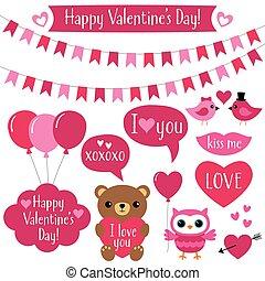 valentines dzień, zaprojektujcie elementy, komplet