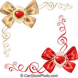 valentines, ensemble, jour