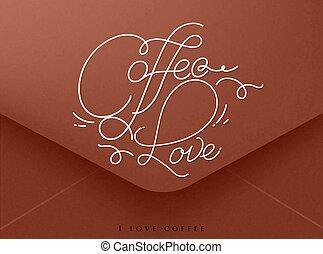 Valentines envelope coffee