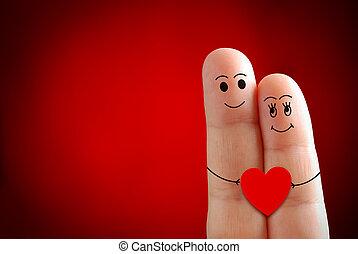 Valentines finger