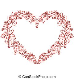 Valentine's  folk embroidery heart