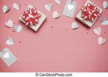 valentines, fond, jour