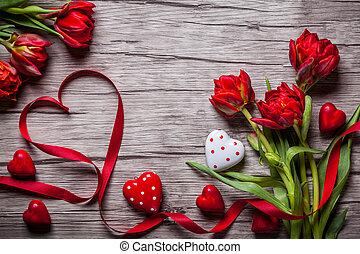 valentines, fondo, giorno